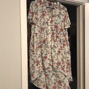 Asymmetrical, sheer dress. worn twice.